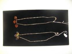 Glass leaf pendants on chain by Brooke Drobot, $40 each no, 2